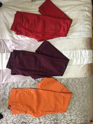 pantalones Volcom, QuickSilver y Carhartt T 44