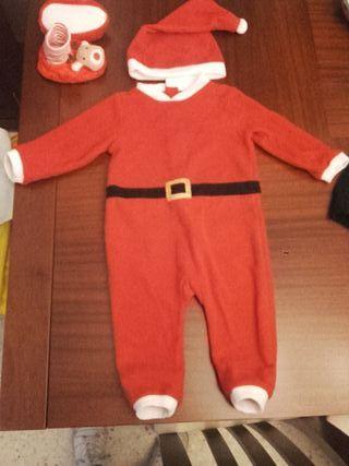 Disfraz y zapatillas bebe Papá Noel Navidad