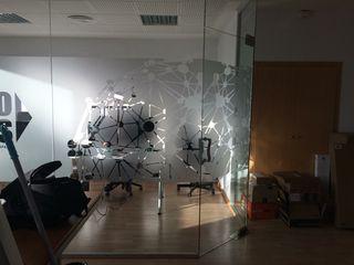 vinilo efecto hielo para oficinas y cristaleras.