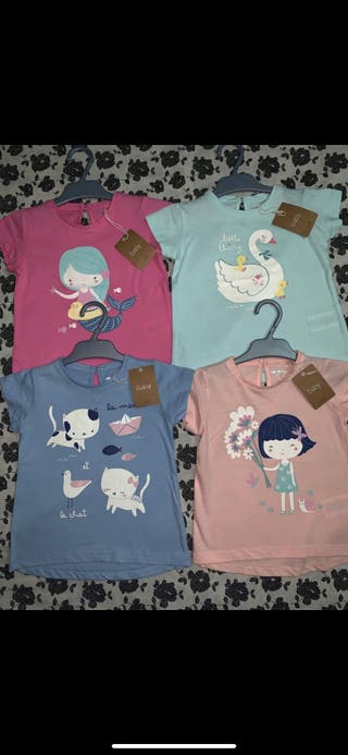 Pack 4 camisetas NUEVAS talla 2/3 años