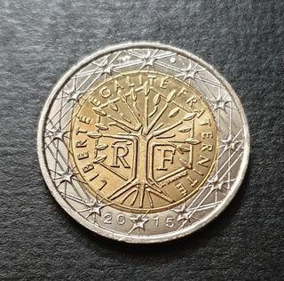 Dos euros Francia 2015