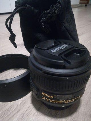 objetivo nikon 50mm f/1.8G