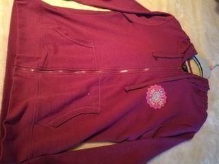 Chaqueta Sudadera Mujer XL Nueva Rosa Fuerte