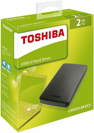 Disco Duro Externo 2TB Toshiba Canvio Connect II N