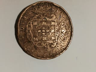 ANTIGUA MONEDA PORTUGAL 1848 - 20 REUS de MARIA II