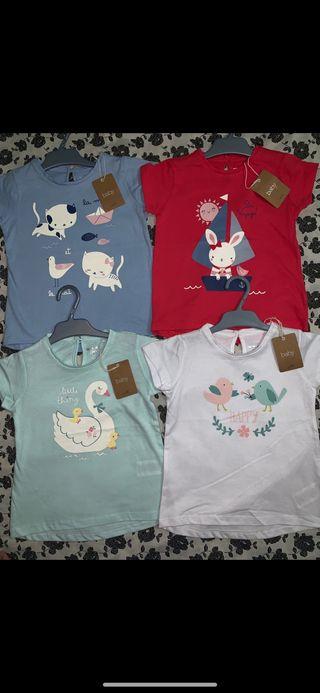 Pack 4 camisetas NUEVAS talla 3-4 años