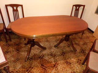mesa comedor madera 2 pies extensible