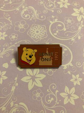 Winnie the Pooh ticket Disney pin