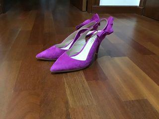 Zapatos de tacón,color fucsia
