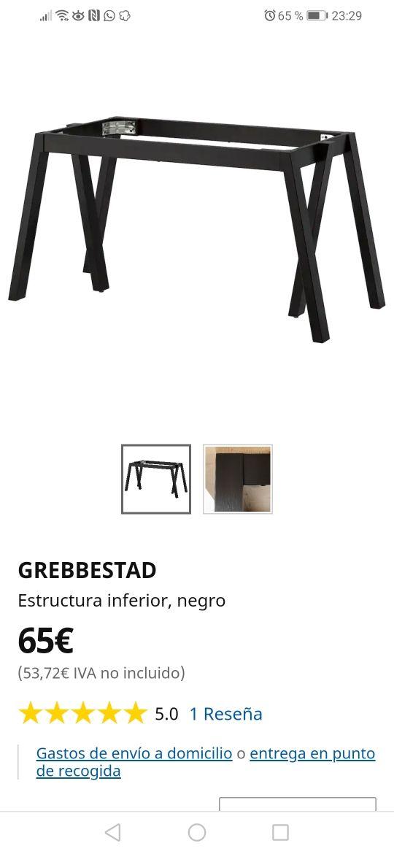 estructura mesa