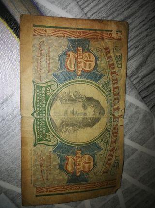 billete 2 pesetas
