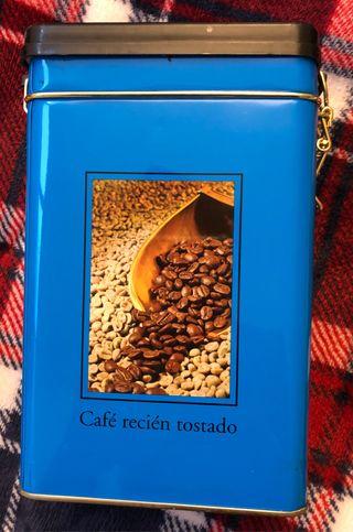 Caja metalica hermética para café