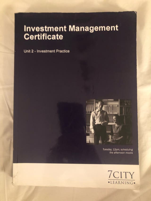 Investment Management Certificate - Study book