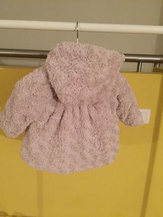 Cazadora niña con capucha y lazo talla 12 meses