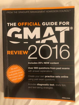 The official Guide for Gmat 2016