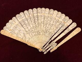 Abanico chino del Siglo XVIII-XIX