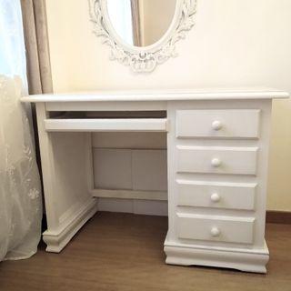 Mesa escritorio madera pino artesanal.