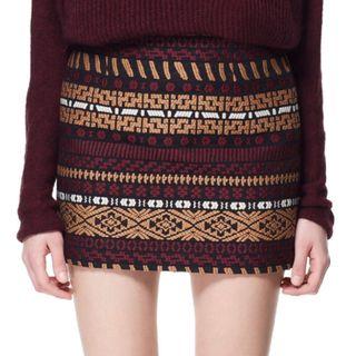 Minifalda jacquard - Zara