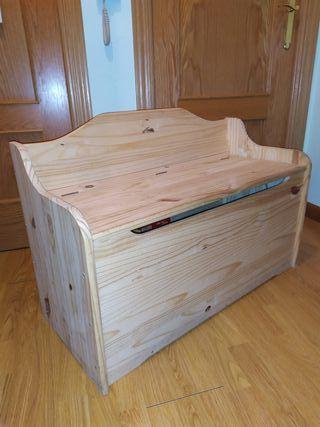 Baul banco de madera