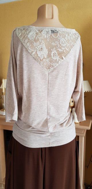 Jersey o blusa tejido de algodón T M-L.