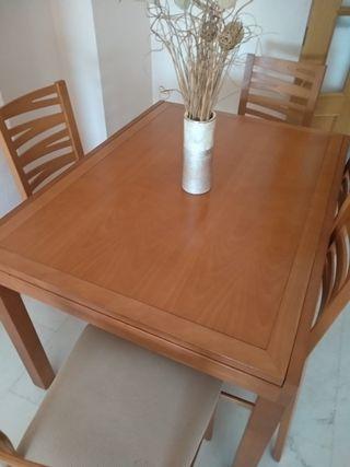 Mesa comedor y 6 sillas.
