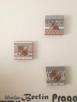 Cuadros decoración diseño étnico Love