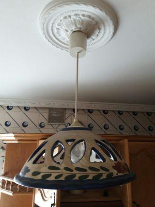 Lampara ceramica de decorada de de segunda cocina de techo byYfg76