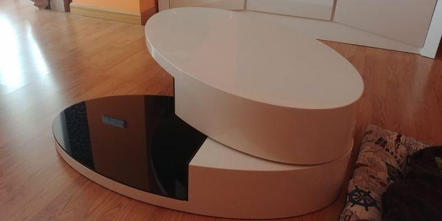Mesa de centro de salón de diseño ovalada