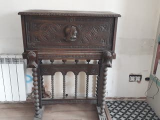 escritorio madera maziza antiguo