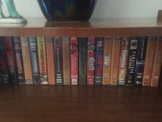 Colección de películas en cinta de vídeo