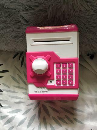 Caja fuerte de juguete rosa