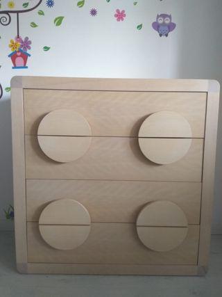 Habitación Infantil-junior(cuna, armario y cómoda)