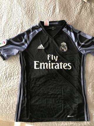 Camiseta negra Real Madrid talla 15-16 años 176 cm