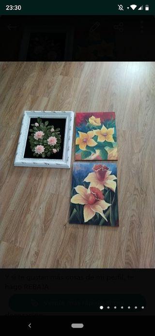 Lote de tres cuadros. Urge vender