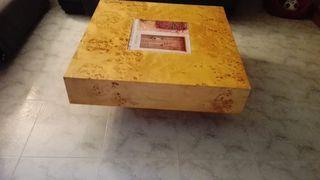 Mesa de madera de raíz
