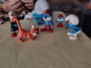 lote de 6 figuras de pitufos nuevos