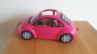 Coche Barbie Volkswagen Beetle rosa