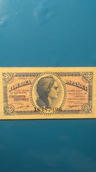 billete antiguo de pesetas