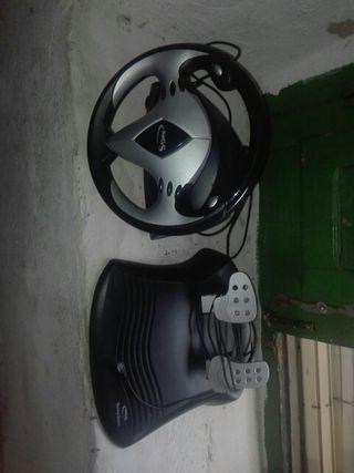volante y pedales de consolas
