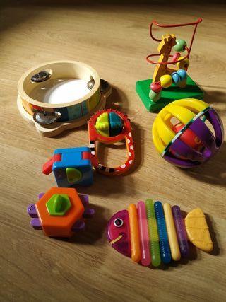 Lote de 7 piezas de juguetes para bebes