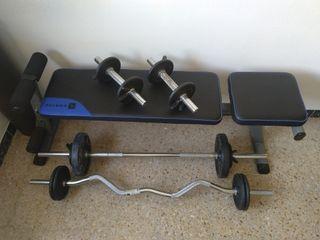 Kit de pesas / GYM en casa