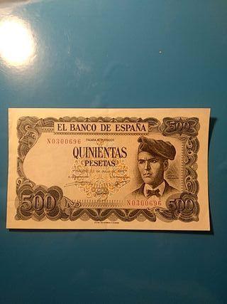 Billete de pesetas españolas