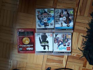 PS3, mandos, microfonos y 5 juegos