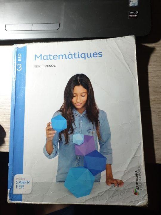 LIBRO MATEMÀTIQUES 3 ESO