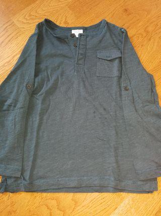 camiseta manga larga de niño talla 5