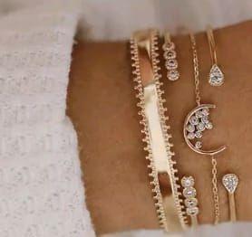 Conjunto de cuatro pulseras