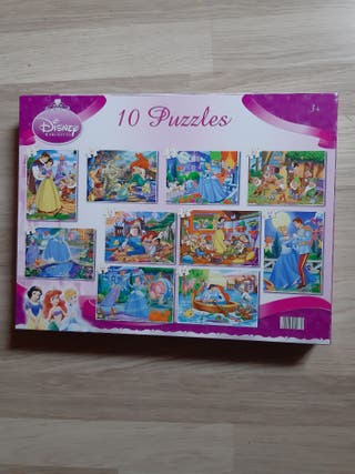 10 puzzles princesas Disney