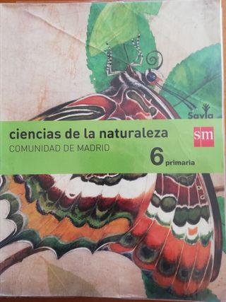 Libro Ciencias de la Naturaleza Savia SM 6