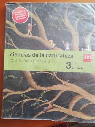 Libro de Ciencias de la Naturaleza, 3 de primaria.