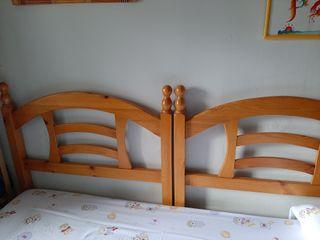 2 cabeceros de madera